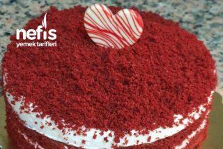 Red Velet Pandispanya Pasta (Sevgililer Günü) Tarifi