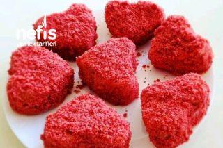 Sevgililer Gününe Özel Kırmızı Kadife Pastacıklar (Videolu) Tarifi