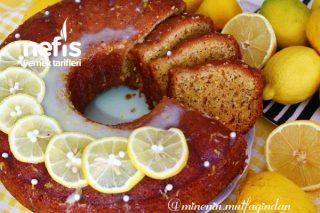 Soslu Limonlu Haşhaşlı Kek (Maden Suyuyla Yumuşacık Kek) Tarifi