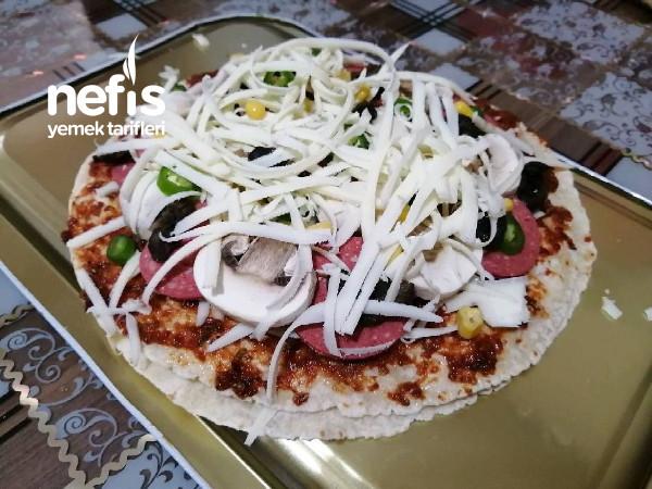 Lavaş Pizza (10 Dakikada Pizza)