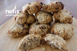 Sağlıklı Yulaflı Şekersiz Cookie Tarifi Kurabiye Tarifim (Videolu)