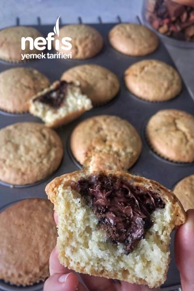 Nutella Dolgulu Muffinler