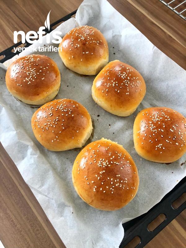Yumuşacık Tam Ölçülü Hamburger Ekmeği