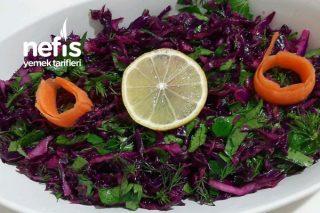 Mor Lahana Salatası (Turşu Tadında) Tarifi