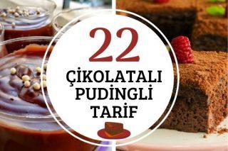 Çikolatalı Pudingle Yapılan 22 Kolay Tarif Tarifi