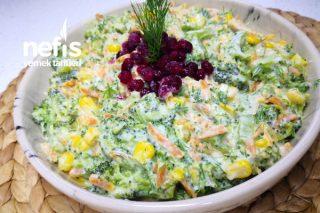 Yoğurtlu Brokoli Salatası Videolu Tarifi