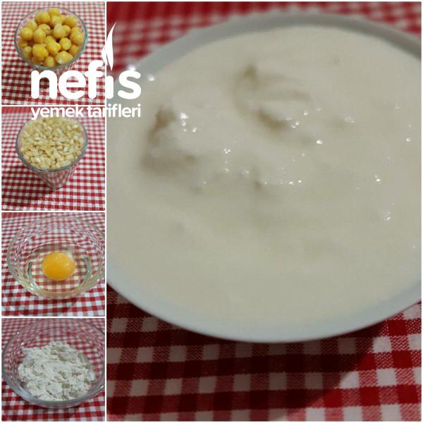 Nohutlu Yarmalı Yoğurt Çorbası