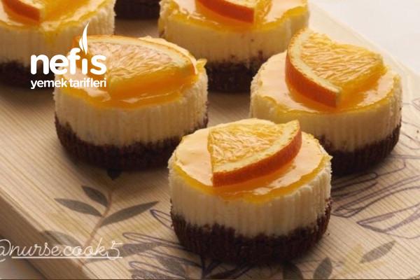 Porsiyonluk Portakal Soslu Cheesecake