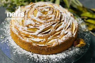 Elmalı Kek Gül Görünümlü Tarifi