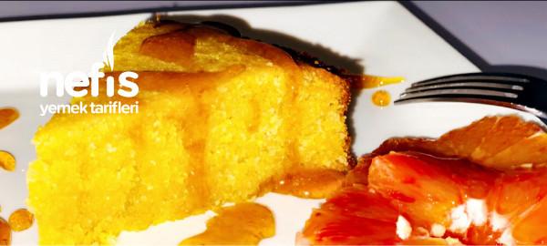 Helva Lezzetinde Diyete Uygun Ve Portakalli Enfes Kek (Glutensiz, Sekersiz Ve Bademunuyla)