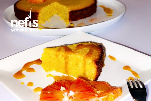 Helva Lezzetinde Diyete Uygun Ve Portakallı Enfes Kek (Glutensiz, Şekersiz Ve Badem Unuyla)