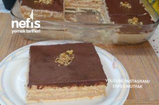 Adı Bisküvi Pastası Ama Tadı Yaş Pasta Bisküvili Pasta Tarifi (Videolu)