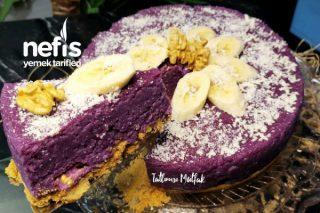 Gıda Boyasız Mor İrmik Pastası (Videolu) Tarifi
