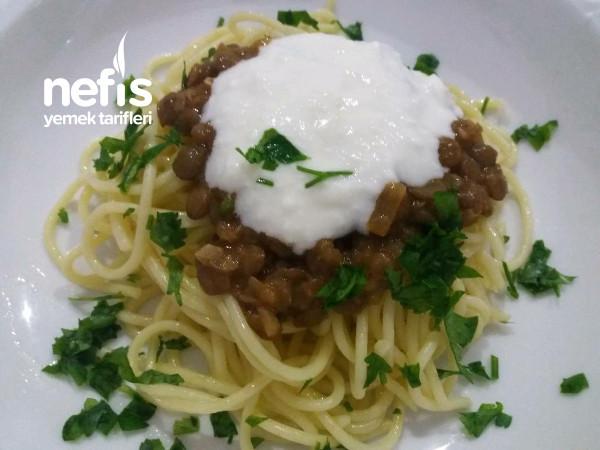 Yeşil Mercimek Soslu Spaghetti