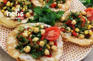 Yufka Çanağında Nohut Salatası Tarifi