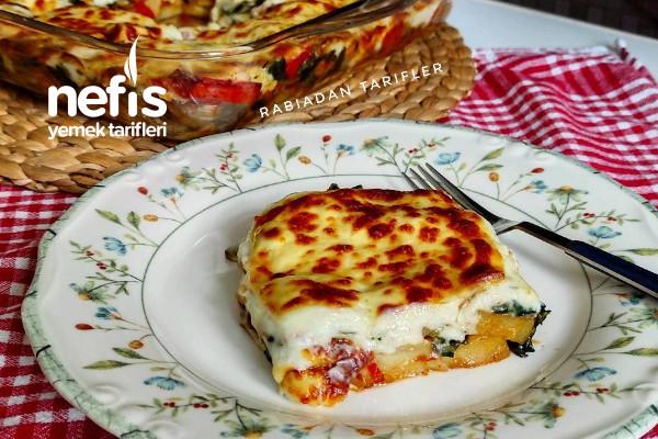 Ispanaklı, Mantarlı Patates Graten Tarifi