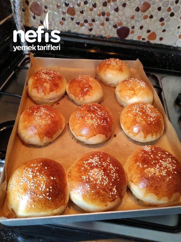 Ev Yapımı Hamburger Ekmeği Ve Köftesi