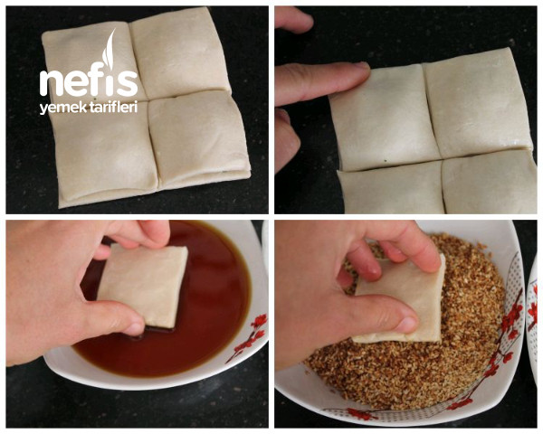 Simit Tadında Peynirli Milföy Börek (Tadına Doyamayacağınız Favori Kahvaltılık)