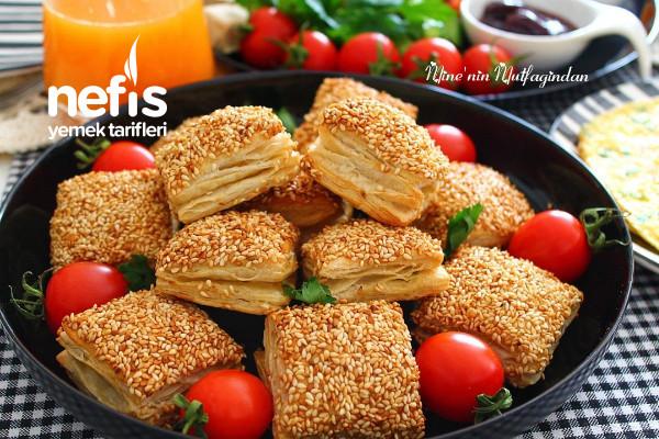 Simit Tadında Peynirli Milföy Börek (Tadına Doyamayacağınız Favori Kahvaltılık) Tarifi
