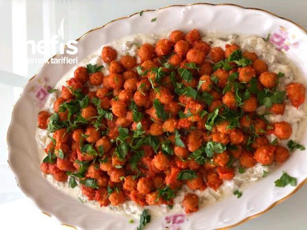 Yoğurtlu Köz Patlıcanli Bulgur Koftesi
