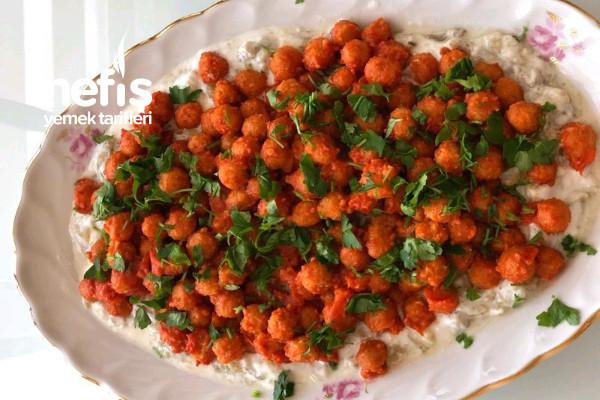 Yoğurtlu Köz Patlıcanlı Bulgur Köftesi