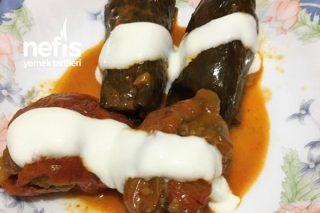 Etli Kuru Patlıcan Ve Biber Dolması Tarifi