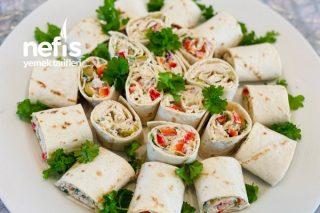 Kremalı Tavuk Salatalı Rulolar (Başka Yerde Bulamazsınız) Tarifi