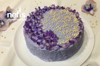 Mor Salkım Pastası ( Doğal Renk) Tarifi
