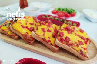 Tost Ekmeğinden Pizza Tarifi (Gerçek Pizzaları Aratmayacak)