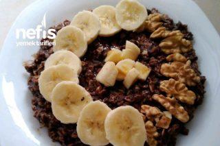 Kakaolu Yulaf Lapası (Sağlıklı Beslenenler İçin) Tarifi