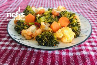 Zeytinyağlı Karnabaharlı Brokoli Yemeği ( Fit Tarif) Tarifi