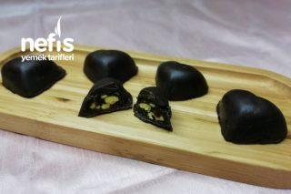 Antepfıstık Ve Hurma Dolgulu Kalp Çikolata Tarifi