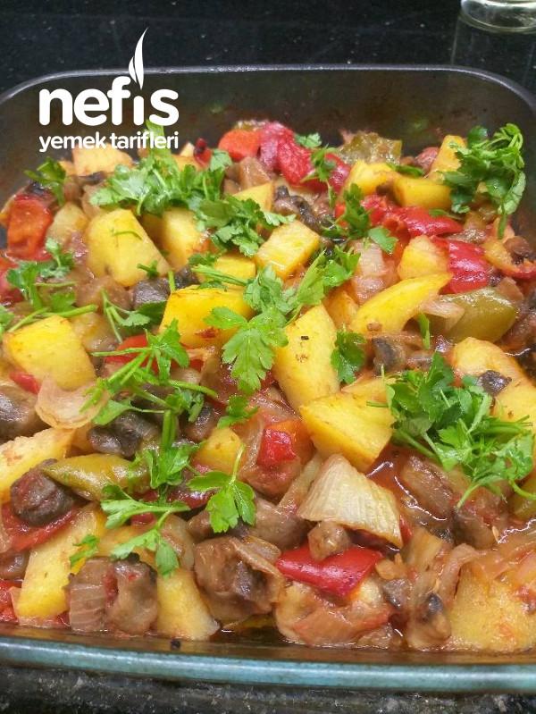 Fırında Patateslı Mantar(lezzet Sahane)