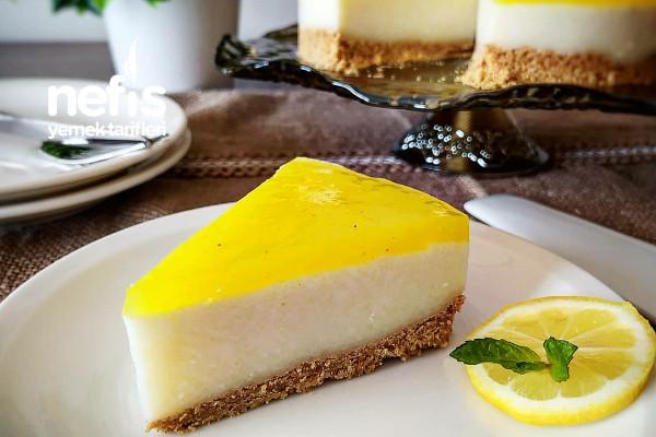 Fırında Pişmeyen Limonlu Cheesecake