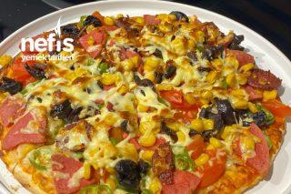 Kahvaltılık Pratik Bazlama Pizza Tarifi