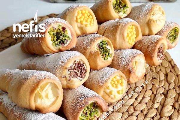 Meşhur Funiyki Tatlısı (Torpil Pasta, Külah Tatlısı)