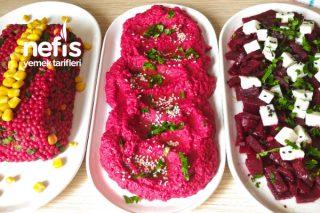 2 Pancarla 3 Çeşit Harika Gün Salatası (Videolu) Tarifi