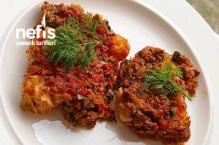 Köz Patlıcanlı Ekmek Kebabı(Bu Lezzet Bir İlk) Tarifi
