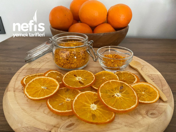 Ecde Doğal Yöntemle Meyve Kurutma / Portakal Tozu Tarifi