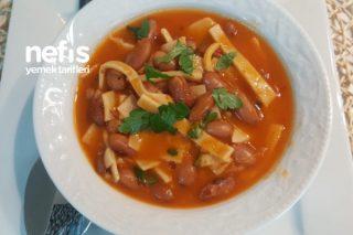 Erişteli Barbunya Çorbası (Laksa Çorbası) Tarifi