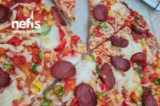 Hazır Lavaştan Pratik Pizza Tarifi