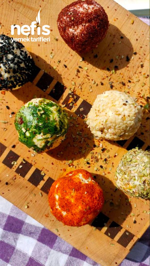 2 Malzemeli Renkli Peynir Topları