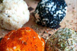 2 Malzemeli Renkli Peynir Topları Tarifi