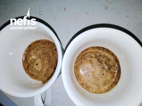 Ateşte Bol Köpüklü Orta Şekerli Sütlü Türk Kahvesi
