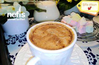 Ateşte Bol Köpüklü Orta Şekerli Sütlü Türk Kahvesi Tarifi