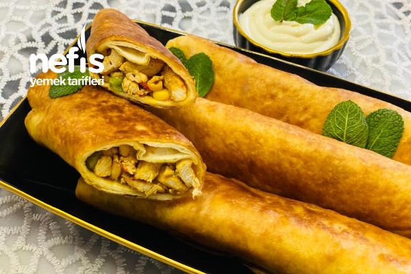 Lavaş Ekmekten Rulo Börek (Çin Usulü)