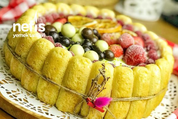 Meyveli Kedidilli Pasta (Tart Kalıbında)