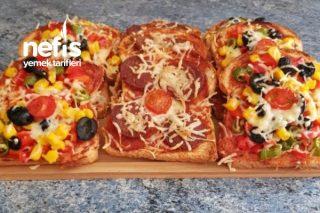 Pazar Kahvaltılarımız İçin Pratik Pizza (Videolu) Tarifi