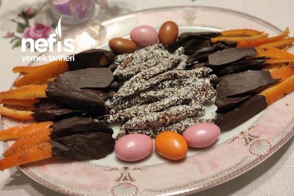 Çikolatalı Portakal Kabukları