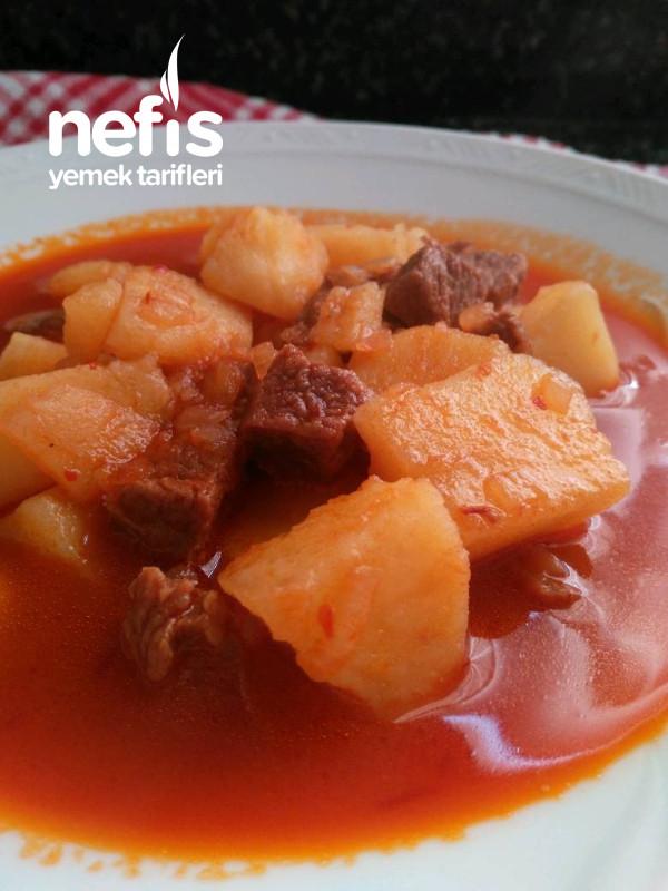 Sulu Patates Yemeği ( ETLİ )